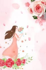 زهرة جمال وردي رسوم متحركة وردي رسوم متحركة ورقة خضراء صورة