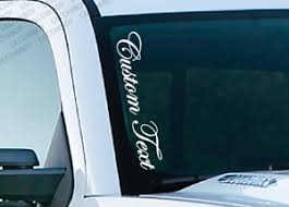 Custom Text Vertical Windshield Vinyl Decal Sticker Truck Ps22 Ebay