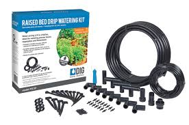 dig raised bed drip irrigation kit for