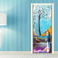 Diy Tree Flower Girls Back Oil Painting Wallpaper Wall Sticker Kids Children Girls Living Room Bedroom Gift Home Decoration Wall Decals Tree Wall Decals Uk From Kittyfang 30 16 Dhgate Com