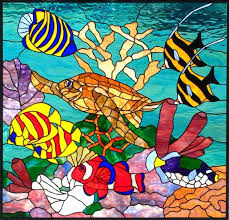 fish glass paintings