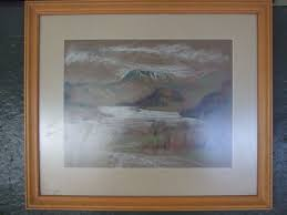 Hilda Williamson 'Ullswater' pastel on paper, framed,[Lot 308] - Busby  Bridport Salerooms - 01308 420100