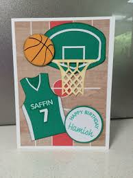 Basketball Card Kids Birthday Cards Basketball Birthday Cards