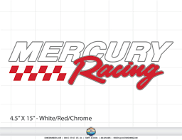 Mercury Racing Truck Window Decal