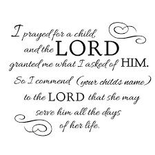 Prayed For A Child Quote Decal Shop Decals At Dana Decals