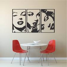 Marilyn Monroe Panel Wall Decals Modern Panel Decals Wall Appliques Trendy Wall Designs