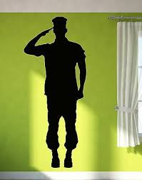 Wall Sticker Vinyl Decal Soldier Giving Salute Military Army Decor Z1019m Ebay