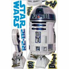 Roommates 5 In X 19 In Star Wars Classic R2d2 Peel And Stick Giant Wall Decal 9 Piece Rmk1592gm The Home Depot