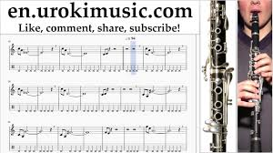 Clarinet lessons Mission Impossible - Theme Sheet Music Tutorial ...