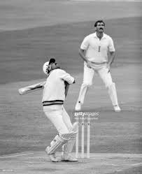 Kapil Dev batting for India during the ...