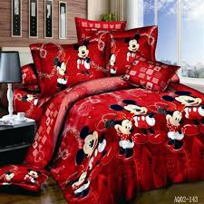 red mickey mouse cotton quilt doona