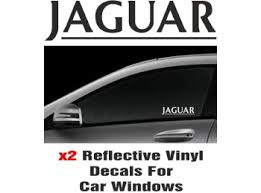 Jaguar Window Decal Sticker Graphic Reflective Vinyl X2 Decals Stick And Glow Reflective Decals