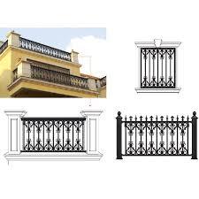 decorative modern metal garden fencing