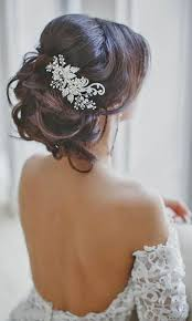 wedding hair with flowers jewels 30