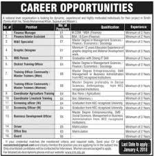 Finance Manager & IT NGO Jobs 2018 2020 Job Advertisement Pakistan