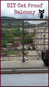 Cat Proof Balcony Easy Diy Balcony Fence For Cats Happy City Cat