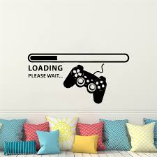 Creative Loading Phrase Game Wall Stickers For Kids Room Art Decals Gamer Ebay