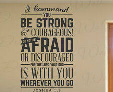 I Command You Vinyl Quote Wall Decal Joshua 1 9 God Scripture Bible Word For Sale Online Ebay