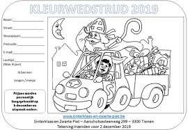 Kleurwedstrijd 2019 Sinterklaas En Zwarte Piet6