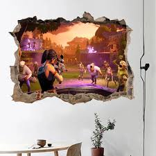 3d Smashed Wall Sticker Decal Home Decor Art Mural Wallpaper Free Shipping Diy Gift Removeable Wall Stickers Aliexpress
