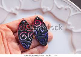 bright colorful earrings creative shape