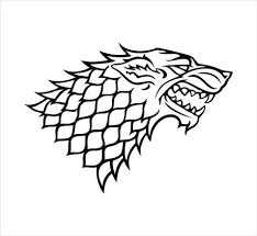 Amazon Com Black Game Of Thrones House Stark Grey Direwolf Emblem Vinyl Die Cut Decal Sticker 6 Kitchen Dining