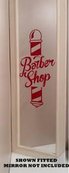 Large Traditional Barber Shop Pole Cut Vinyl Window Sticker Sign 18 X 11 For Sale Online