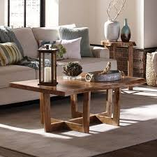 beyers solid wood sled coffee table