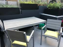 ikea falster garden table and 4 chairs