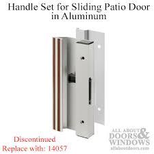 handle set sliding patio door