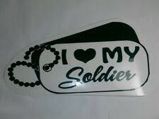 I Love Sailor Dog Tags Vinyl Sticker Car Decal 6 M52 Military Soldier Family For Sale Online Ebay