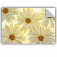 Ebern Designs White Daisies Removable Wall Decal Wayfair