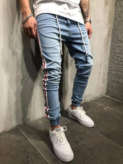 Resultado de imagem para Side Stripe Pants homem