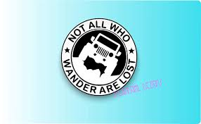 Not All Who Wander Are Lost Jeep Vinyl Decal Laptop Window Vinyl Car Sticker Islandgirl Dezigns