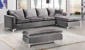 naomi velvet reversible sectional sofa