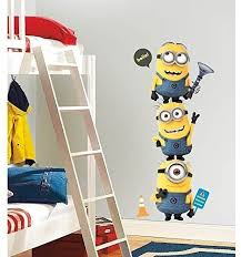 Amazon Com New Giant Despicable Me 2 Minions Wall Decals Kids Room Stickers Childrens Decor By Sticker Hot Home Kitchen