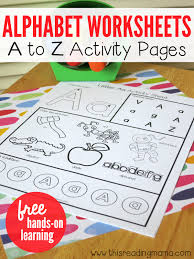 alphabet worksheets activity pages