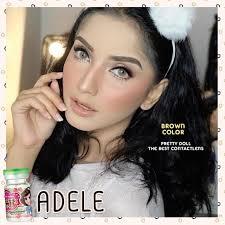 คอนแทคเลนส์ตาฝรั่ง Adele brown | Shopee Thailand