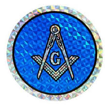 Reflective Round Masonic Car Window Sticker Decal Masonic Car Emblem With Blue Compass And Square Logo Thin Sticker With Back Adhesive Mason Zone
