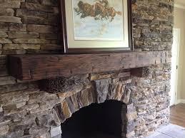 hand hewn beam fireplace mantel