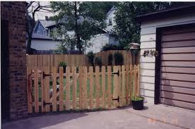 4 Ft Dog Ear Picket Fence With Double Gate Dog Ear Fence Picket Fence Gate Fence Gate