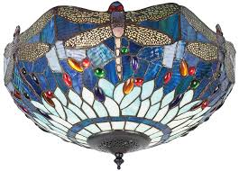 lamp flush tiffany ceiling light