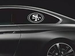 2 Truck Car Vinyl Decal Window Sticker Sf San Francisco 49ers Football Team Logo Ebay