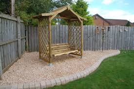 arbour with swing seat traditional