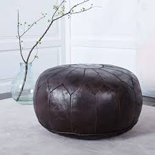 moroccan leather pouf large