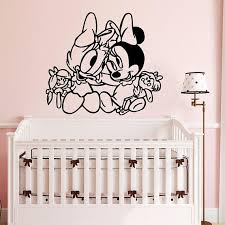 Daisy Duck And Minnie Mouse Babies Wall Decal Cartoon Animals Etsy Baby Wall Decals Nursery Baby Room Baby Room Decor