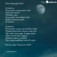 diari setengah hati untu quotes writings by ali wardhana