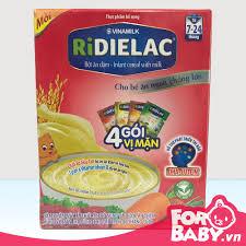Bột ăn dặm Ridielac hộp 4 gói 3 vị (4 gói× 50g)