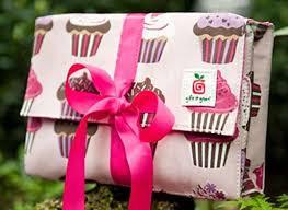 reusable fabric gift bo gift it green