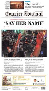 """Matt Mencarini on Twitter: """"Front page of today's @courierjournal.… """""""